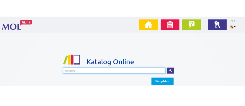 Widok na katalog online MOL net+